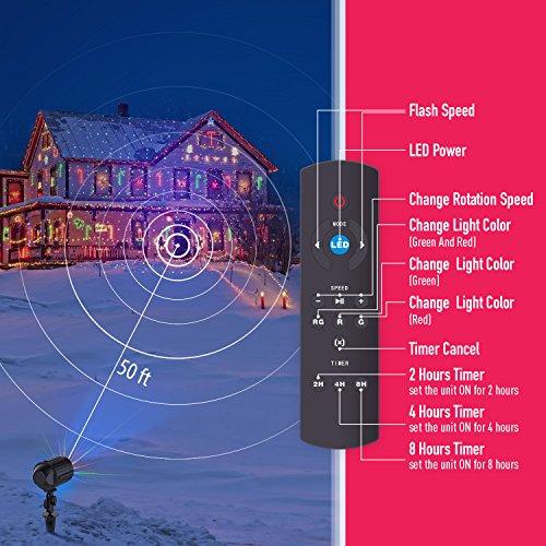 Christmas Light Projector Laser Lights Motion Outdoor
