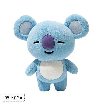 TO_GOO Bulletproof Youth League - Almohada de Felpa para muñeca periférica Bt21 Jin Taiheng Koala 25 cm: Jardín