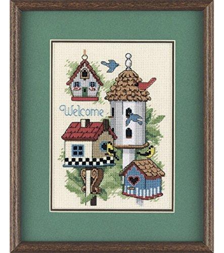 Bird House Dimensions Mini Counted Cross Stitch Kit (Kit Stitch Cross Cntd)
