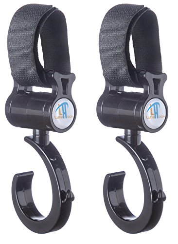 Stroller Hook By Luna - Universal Fit for All Strollers - Exceptional Quality - Lifetime Guarantee