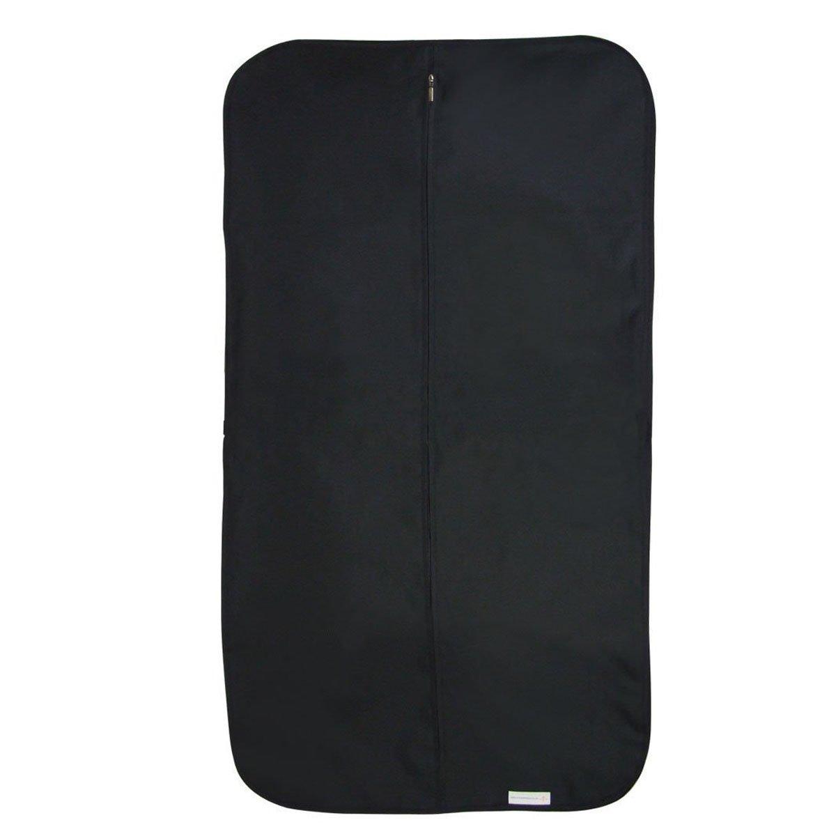 Hangerworld - Porta Trajes De Nylon Con Asa, Impermeable, Color Negro, 112 cm
