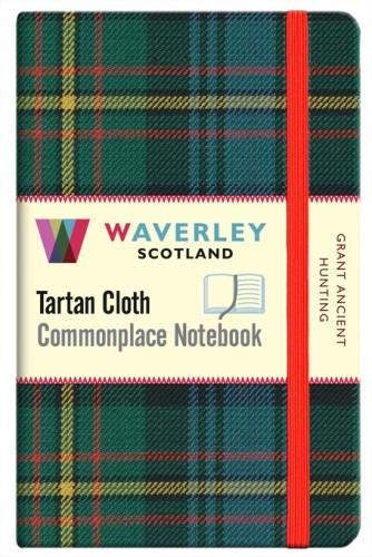 Grant Ancient Hunting:: Waverley Genuine Tartan Cloth Commonplace Pocket Notebook (9cm x 14cm) (Waverley Scotland Tartan Cloth Commonplace Notebooks/Gift/Stationery/Plaid Stationery items)