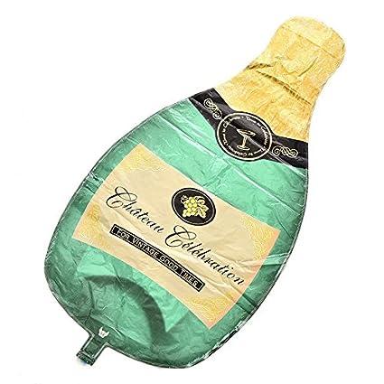 Kit 2 x Globo Balón hinchable Botella Champán + Copa ...