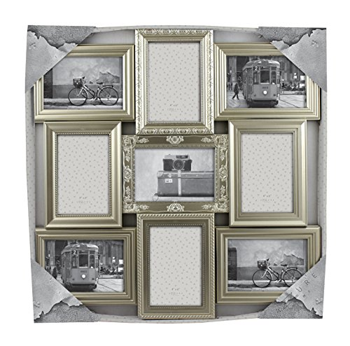 Azzure Home Victorian 9 Openings Decorative Wall Hanging Collage