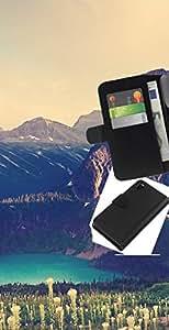 NEECELL GIFT forCITY // Billetera de cuero Caso Cubierta de protección Carcasa / Leather Wallet Case for Sony Xperia Z3 D6603 // Gran Acantilado Lago