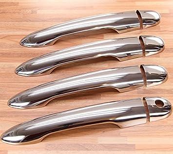 Embellecedores cromados para los tiradores, compatibles con Renault Megane 2 y Clio 3, acero inoxidable: Amazon.es: Coche y moto