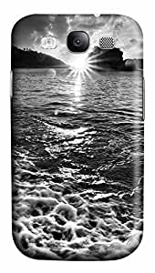 Samsung Galaxy S3 I9300 Cases & Covers - Black And White Sunset Custom PC Soft Case Cover Protector for Samsung Galaxy S3 I9300