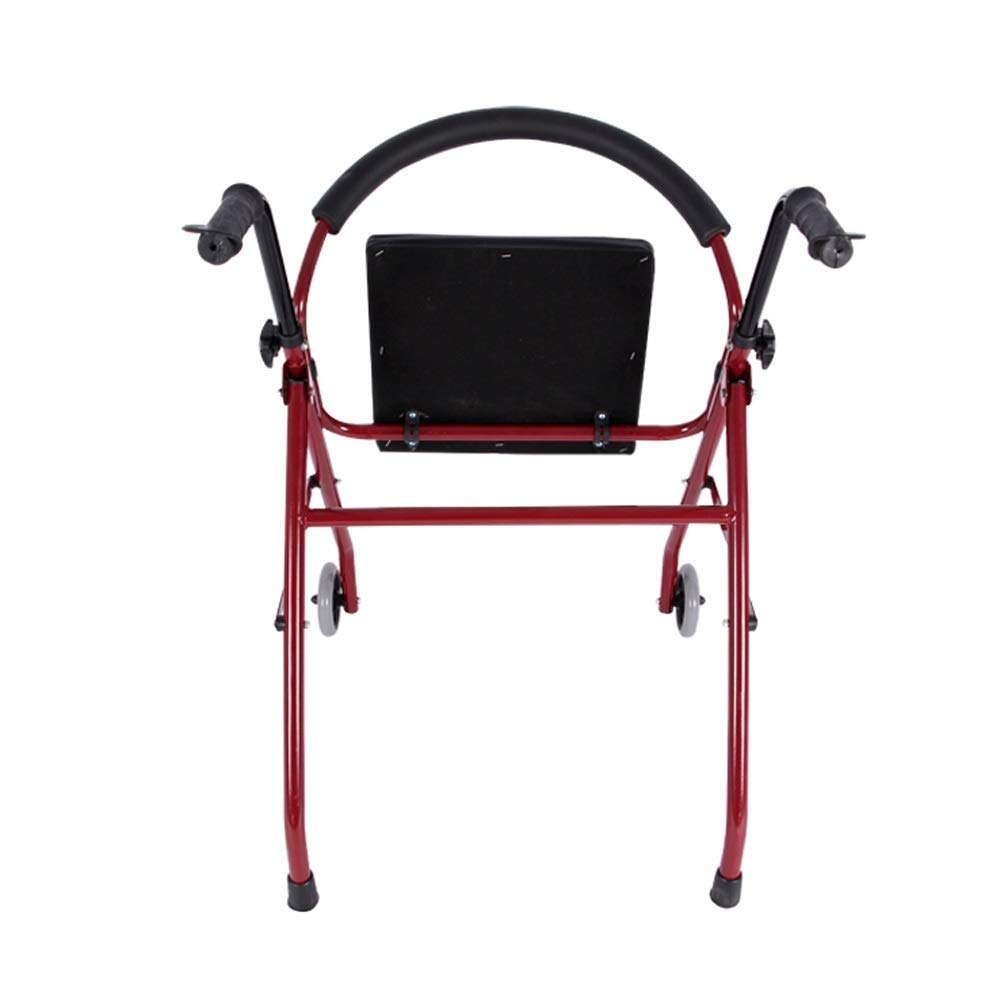 Foldable Walker,Folding Walker with Seats and Wheels Handicap Mobile Assisted Walking Frame Lightweight Non-Slip StableAdjustable Auxiliary Walking Safety Walker by YL WALKER (Image #5)