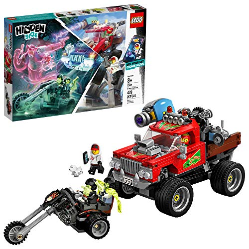 Bike Race Halloween World (LEGO Hidden Side El Fuego's Stunt Truck 70421 Building Kit, Ghost Playset for 8+ Year Old Boys and Girls, Interactive Augmented Reality Playset, New 2019 (428)