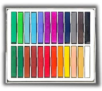 amazon com 24 soft chalk pastels set for art drawing scrapbooking