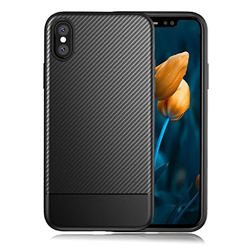 Price comparison product image iPhone X Case Soft Black Non Slip Matte Surface TPU Cover Hybrid Protective Case for Apple iPhone X Edition (2017)
