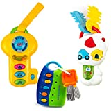 Toysery Music Smart Remote Car Key Baby Toy 3 PC - Light and Sound Musical Baby Key Set - Baby Toddler Learning Educational Fun Toys