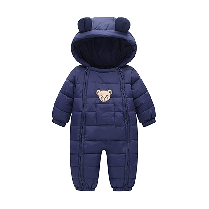 2bbe8d7cf Amazon.com  Milkiwai Infant Baby Boy Girl Winter Warm Romper ...