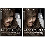 Clairol Perfect 10 By Nice 'N Easy Hair Color Kit (Pack of 2), 006.5A Lightest Cool Brown, Includes Comb Applicator, Lasts Up To 60 Days