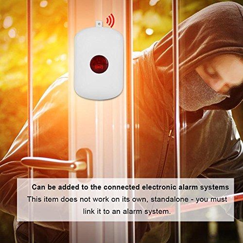 Zerone 433MHz Wireless Home Security Emergency Siren Alarm, SOS Panic Button Alarm for WiFi GSM Home Security Alarm System with Red Chain by Zerone (Image #3)