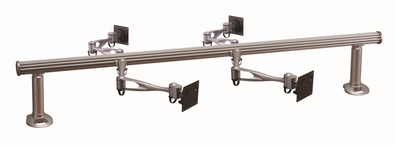 Cotytech Wandhalterung für Tischhalterung für vier Monitore Horizontal Delux