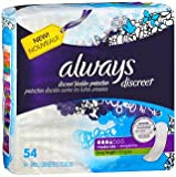 Always Discreet Pads Long Length Moderate Absorbency - 3pks of 54, Pack of 4