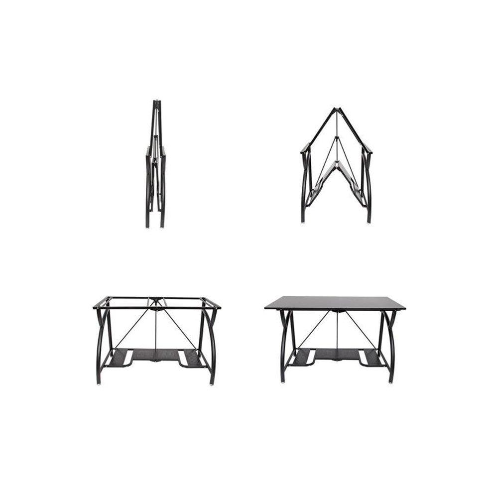 af603ee6d6f5 Origami Multi-Purpose Desk,Computer Desk,Craft Table,Storage Space Saving,  Black