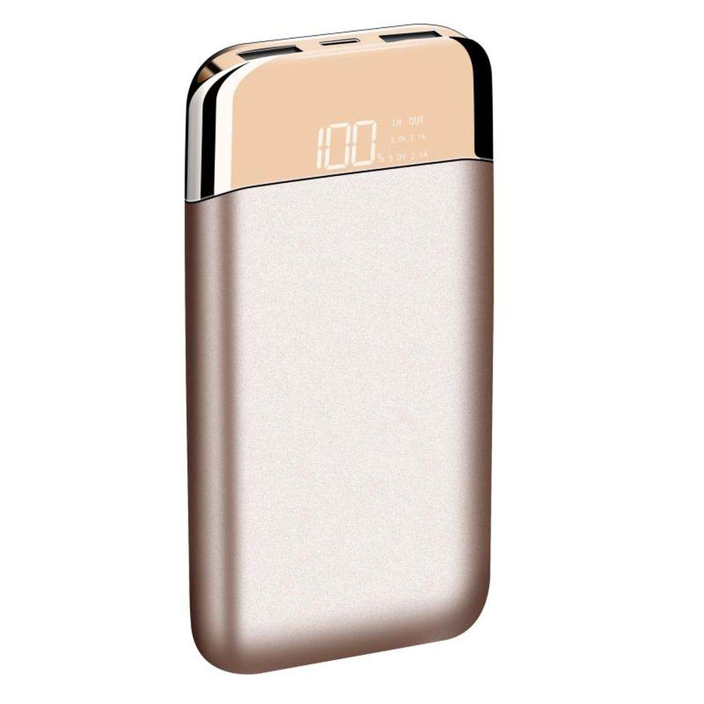 Amazon.com: LAX 12000mAh Portable Power Bank - External Backup Battery with Power Reserve Display Compatible with iPhone Xs/Max/XR/X / 8/8 Plus (Gold): Cell ...