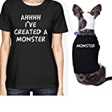 Created A Monster Small Dog and Owner Matching Shirts Dog Lovers (ONWER - XL / PET - S)