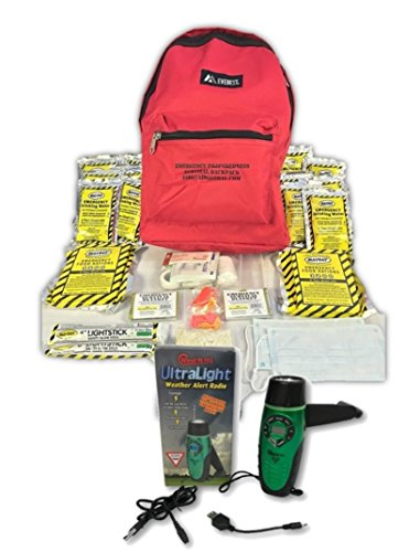 2-Person, 3-Day Emergency Backpack by First Aid Global (3 Day Kit)