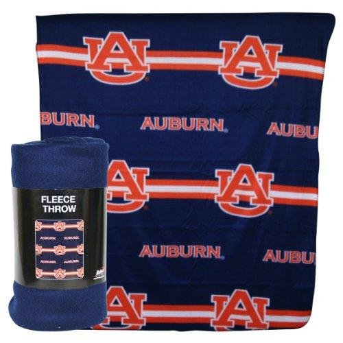 Auburn Tigers Fleece Throw (Auburn Tigers NCAA 3 Row Fleece Throw Blanket (50x60))