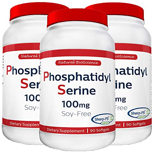 Phosphatidylserine Soy-Free 100mg, 90 Count, Patented Sharp-PS Formula, Phosphatidylserine Complex from Sunflower Lecithin, Natural Brain Booster for Memory and Focus, Soy-Free, Allergen-Free, Non-GMO -  Nugema Research