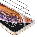 UNBREAKcable iPhone Xs/X Screen Protector [3-Pack] - 9H Hardness Tempered Glass for iPhone Xs/iPhone X, Bubble-Free, Shatter-Proof, Free Installation Frame, Case-Friendly, 3D Touch Support