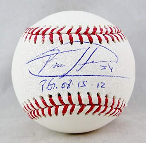 - Felix Hernandez Autographed Rawlings OML Baseball w/PG 8.15.12- JSA W Auth Blue