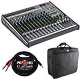 Mackie ProFX16v2 16-Channel Sound Reinforcement Mixer with Padded Nylon Mixer Bag & Stereo Breakout Cable 10'