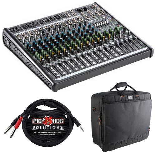 - Mackie ProFX16v2 16-Channel Sound Reinforcement Mixer with Padded Nylon Mixer Bag & Stereo Breakout Cable 10'