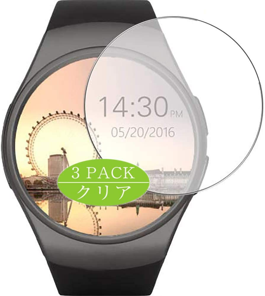[3 Pack] Synvy Screen Protector, Compatible with Lenovo smart watch HW07 TPU Film Protectors [Not Tempered Glass]
