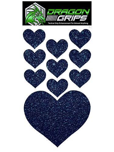 Dragon Grips Black Heart Grip Tape Decal Stickers for Phones, Cases, laptops, tumblers (Black) (Grip Tape For Iphone)