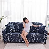 KKONION Geometic Floral Printing Elastic All-inclusive Corner Protective Couch Slipcovers Sofa Cover Removable Spandex Stretch