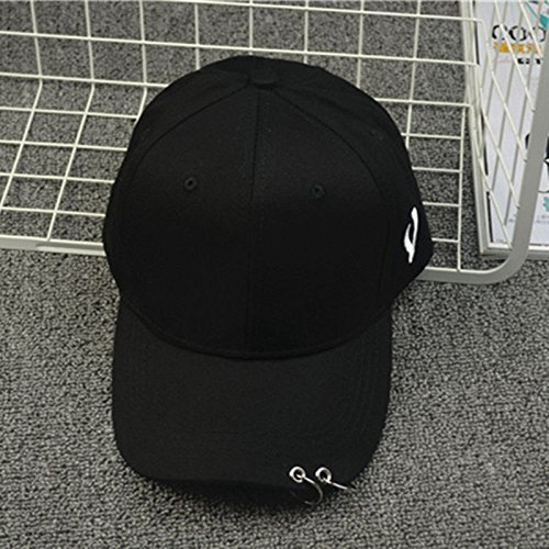 XENO-EXO Black White SEHUN Snapback Baseball Cap Hip Hop Hat Unisex Adjustable Kpop(black) (Crochet Beer Can Hat)