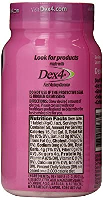 Dex4 Glucose Tablets, Watermelon, 50 Count