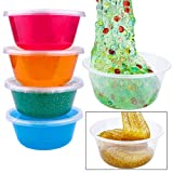 Augshy 50 Pack 8oz Slime Containers with Lids,Clear