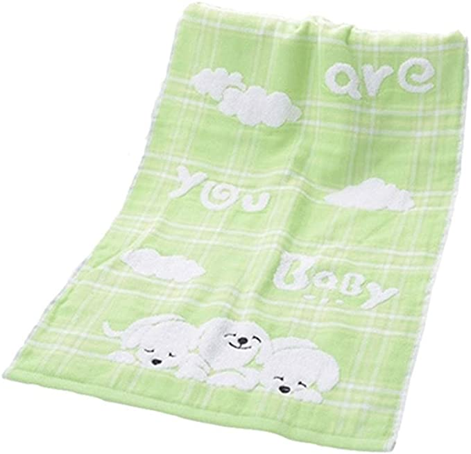 UHUA Cartoon Dog Adult Gauze Wash Toalla para la cara ...
