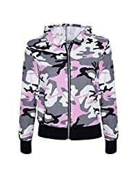 Kids Gilrs CamouFlage Print Crop Top Legging Jacket Tracksuit Age 5-13 Years