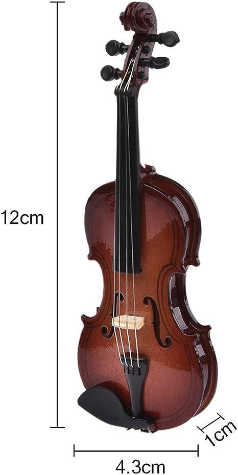 2pcs plastic mini violin dollhouse decorative music instrument crafts diKTP