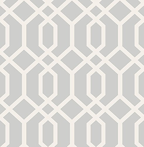 (Brewster Wallcovering Co FD23271 Trellis Grey Montauk Wallpaper,)