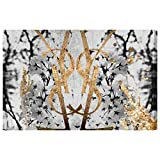 Botanical Couture Noir by Oliver Gal | Contemporary Premium Canvas Art Print. The Abstract Wall Art Decor Collection. 60x40 inch, Gold