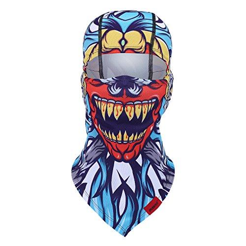 Balaclava Clown Mask - Original Hand Painted Motorcycling Cycling Full Face Head Hood (Hood Costume Accessories)