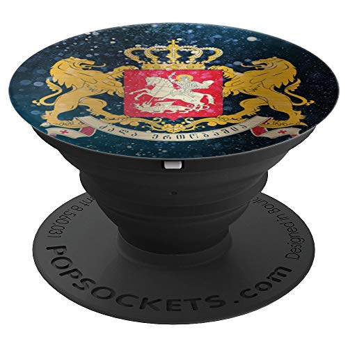 Georgia Coat of Arms Space Design - Georgian Pride - PopSockets Grip and Stand for Phones and Tablets ()