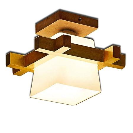 ▷ Armario Luces de techo Estilo chino Corredor Lámparas de madera ...