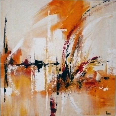 Solaire (60 cm x 60 cm) - Painting by Louise LAROSE