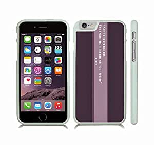 """iStar Cases? iPhone 6 Plus Case with """"A mother's hug lasts long after she lets go"""" Inspirational, Lioness and Cub Design , Snap-on Cover, Hard Carrying Case (White)"""