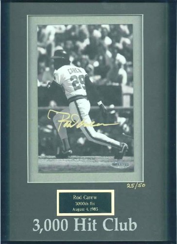 Rod Carew - UDA LIMITED EDITION Autographed 3,000 Hit Club photo (Twins)