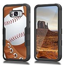 Galaxy S8 Plus Case, CASECREATOR[TM] For Samsung [Galaxy S8 Plus]/G955 ()~NATURAL TUFF Hybrid Rubber Hard Case BB-Baseball and Glove