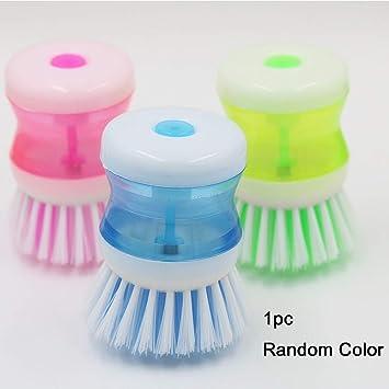 Cepillo para fregar platos ligero y limpiador, cepillo hidráulico para limpieza de ollas y sartenes (color al azar): Amazon.es: Hogar
